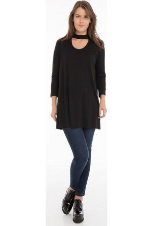 Collezione Kadın Tunik Uzun Kol Nialle Siyah