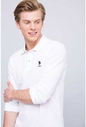 U.S. Polo Assn. Erkek Tp01Sk7 Sweatshirt Beyaz