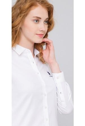 U.S. Polo Assn. Kadın Crista17K Gömlek Beyaz