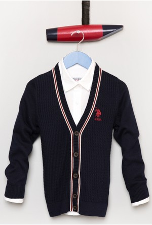 U.S. Polo Assn. Erkek Çocuk Bts02Sk7 Hırka Lacivert