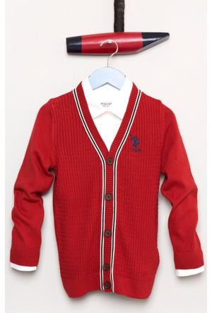 U.S. Polo Assn. Erkek Çocuk Bts02Sk7 Hırka Kırmızı