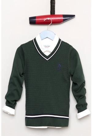 U.S. Polo Assn. Erkek Çocuk Bts01Sk7 Kazak Yeşil