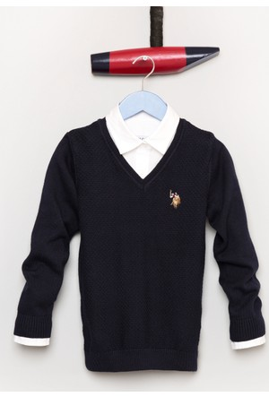U.S. Polo Assn. Erkek Çocuk Tcdunivkids Kazak Lacivert