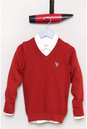 U.S. Polo Assn. Erkek Çocuk Tcdunivkids Kazak Kırmızı