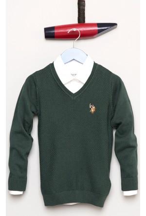 U.S. Polo Assn. Erkek Çocuk Tcdunivkids Kazak Yeşil