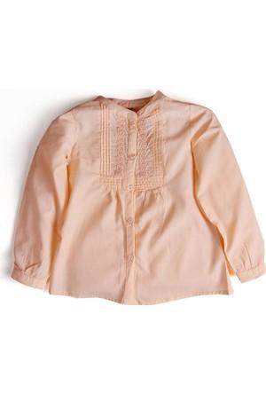Soobe Kız Yeni Doğan Gömlek Tropik Şeftali