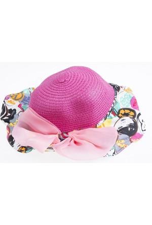 Soobe Kız Çocuk Hasır Şapka Karışık Renkli