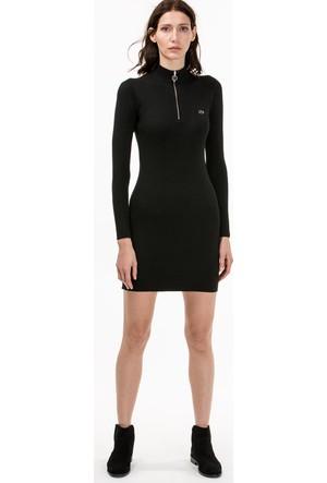 Lacoste Kadın Fermuar Detaylı Elbise Siyah EF1802.02S
