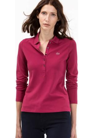 Lacoste Kadın Polo Yaka Sweatshirt Pembe PF7841.F8W