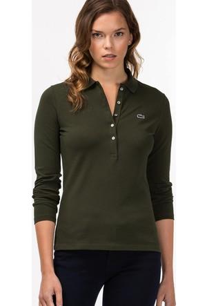 Lacoste Kadın Polo Yaka Sweatshirt Yeşil PF7841.U30