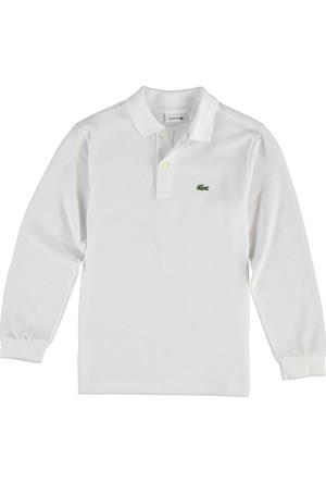 Lacoste Erkek Çocuk Polo Yaka Sweatshirt Beyaz PJ8915.001