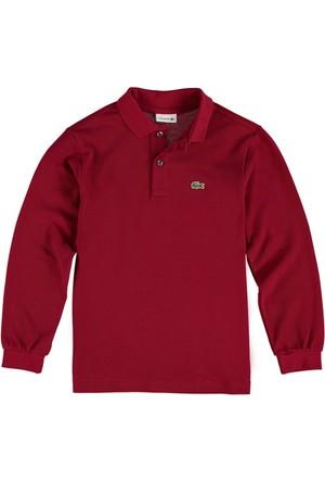 Lacoste Erkek Çocuk Polo Yaka Sweatshirt Bordo PJ8915.476