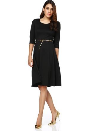 Sense Parçalı Yarımkol Krep Elbise