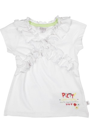 Kanz Kız Çocuk 143-3131 T-Shirt Kısa Kol