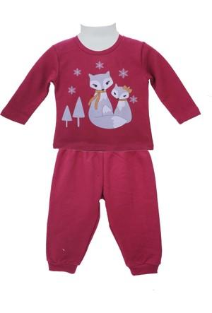 Zeyland Kız Çocuk Mürdüm Pijama Takım 72Z2Pjm213
