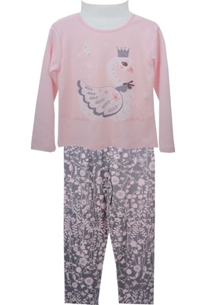 Zeyland Kız Çocuk Pembe Pijama Takım 72Z4Pjm217