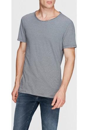 Mavi Erkek Çizgili Siyah Basic T-Shirt