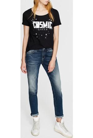 Mavi Kadın Cosmic Baskılı Siyah T-Shirt