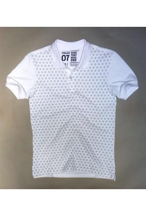 Phazz Brand Tshirt Polo Yaka 4670 Beyaz