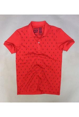 Phazz Brand Tshirt Polo Yaka 4601 Kırmızı