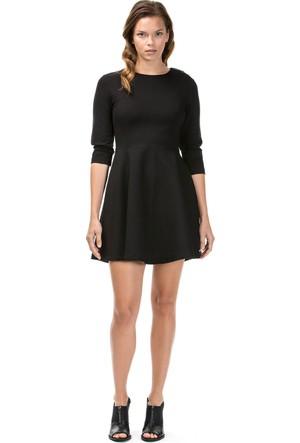 Nautica Uzun Kollu Düz Siyah Kadın Elbise 73D105T.0Tb