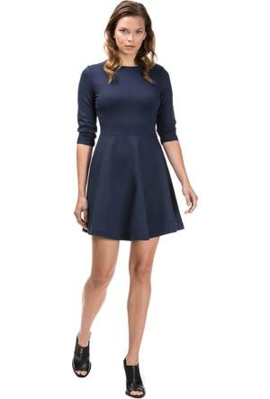 Nautica Uzun Kollu Düz Lacivert Kadın Elbise 73D105T.4Vn