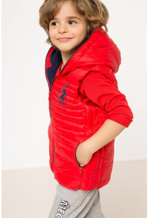 Defacto Kapşonlu Erkek Çocuk Polarlı Yelek H0610A417Aurd74