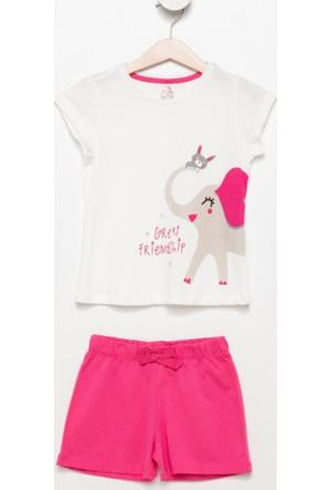 Defacto Baskılı Kız Çocuk Pijama Takımı H0829A417Spwt34