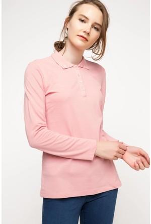 Defacto Uzun Kollu Polo Sweat Shirt H0195Az17Wnbr80