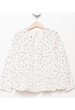 Defacto Çiçekli Kız Çocuk Gömlek H6156A417Auer105