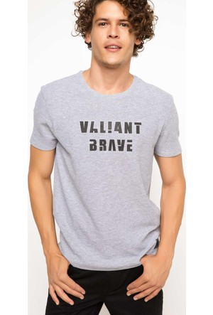 Defacto Bisiklet Yaka Baskılı T-Shirt H2478Az17Augr210