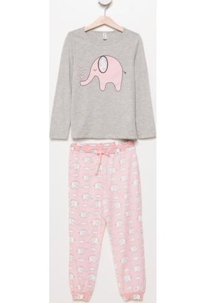 Defacto Baskılı Kız Çocuk Pijama Takımı H5932A417Augr210
