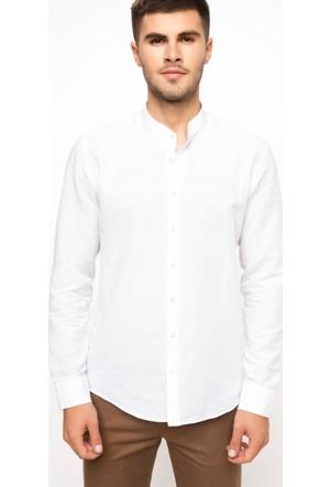 Defacto Keten Modern Fit Gömlek I0129Az17Auwt52