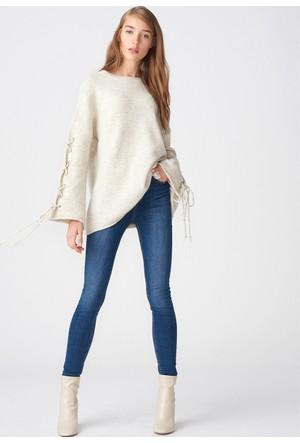 Dilvin 7275 Yüksek Bel Klasik Pantolon Lacivert