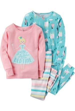 Carter's Küçük Kız Çocuk 4'Lü Pijama 351G470