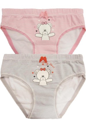 Özkan 2'Li Paket Kız Çocuk Külot 40950-1 Karışık