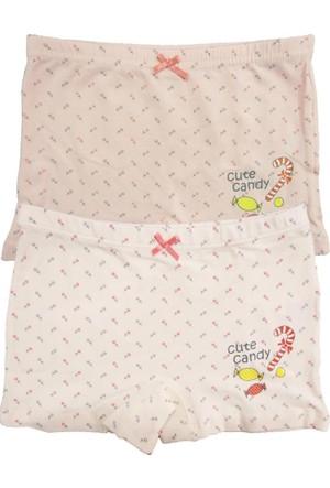Özkan 2'Li Paket Kız Çocuk Şort 40974-1