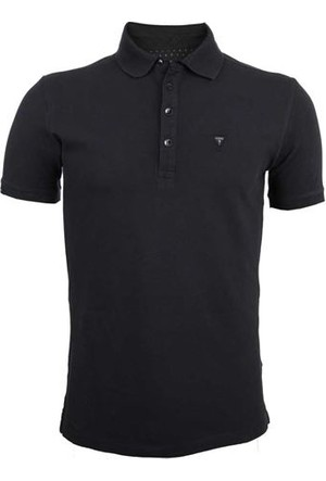 Guess Erkek M44P01 K2O50 Ss Stretch Pique Polo Noir/Jet Black T-Shirt