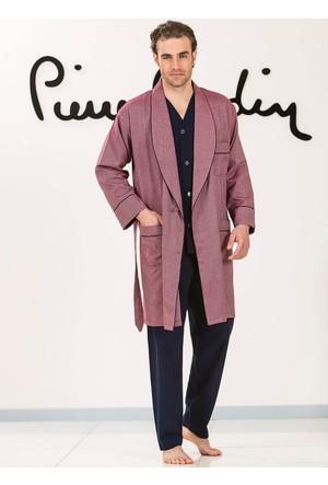 Pierre Cardin 5515 Erkek Çeyizlik Uzun Kollu Pijama Ropdöşambır Set