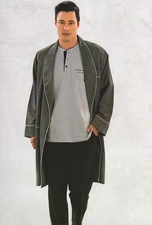 Pierre Cardin 5555 Erkek Çeyizlik Uzun Kollu Pijama Ropdöşambır Set