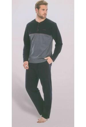 Pierre Cardin 5283 Uzun Kollu Jakarlı Erkek Pijama Takımı