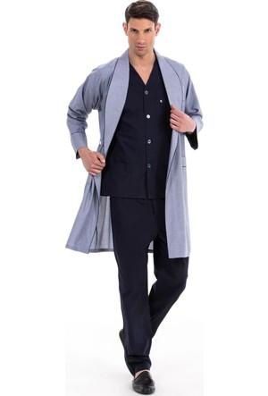 Pierre Cardin 5505 Erkek Çeyizlik Uzun Kollu Pijama Ropdöşambır Set