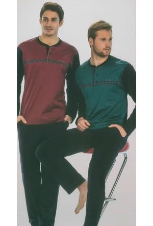 Pierre Cardin 5271 Uzun Kollu Jakarlı Erkek Pijama Takımı