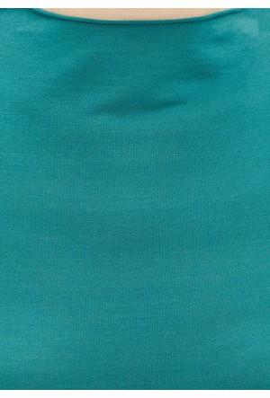 Mavi Derin Yeşil Uzun Kol T-Shirt