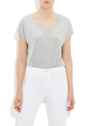 Mavi Gri Basic Kısa Kol T-Shirt