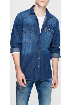 Mavi Andy Mavi Amerika Jean Gömlek
