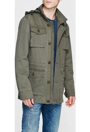 Mavi Haki Yeşili Cep Detaylı Ceket