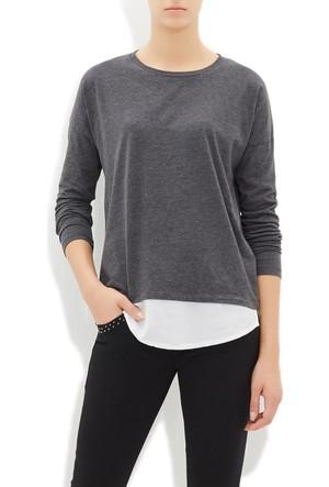 Mavi Kadın Antrasit Uzun Kol T-Shirt
