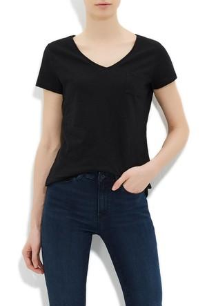 Mavi Siyah Basic V Yaka T-Shirt