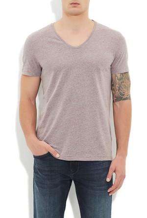 Mavi Mor V Yaka T-Shirt